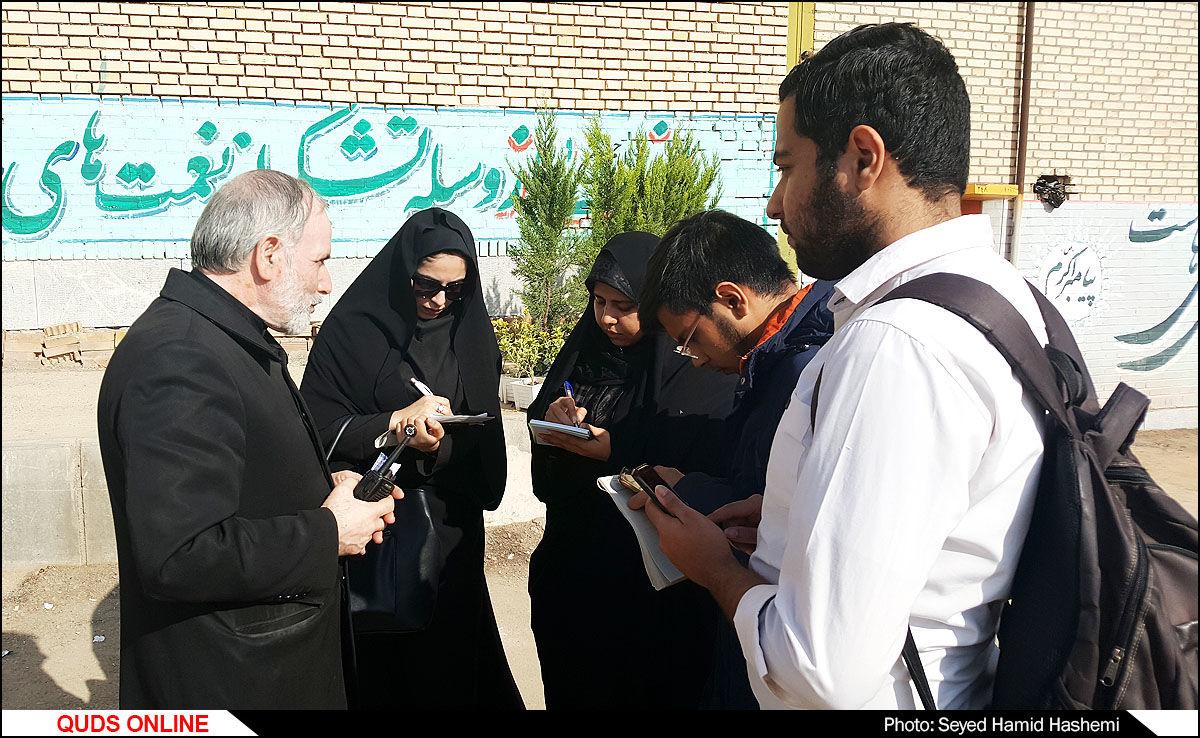 بازدید اصحاب رسانه از موکب آستان قدس رضوی/گزارش تصویری