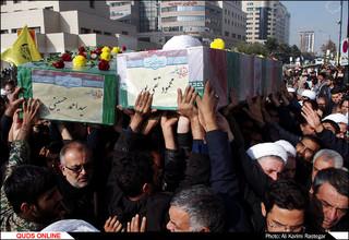 تشییع دو شهید مدافع حرم در مشهد