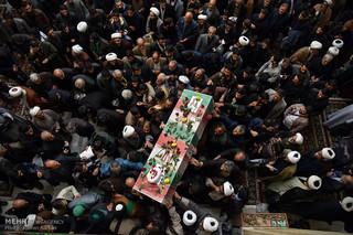 مراسم تشییع پیکر دو شهید مدافع حرم در مشهد