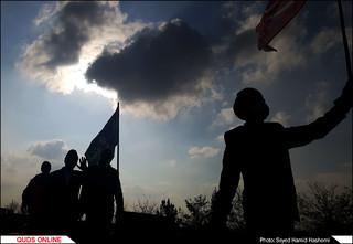 زائران پیاده و قدم های متبرک /گزارش تصویری