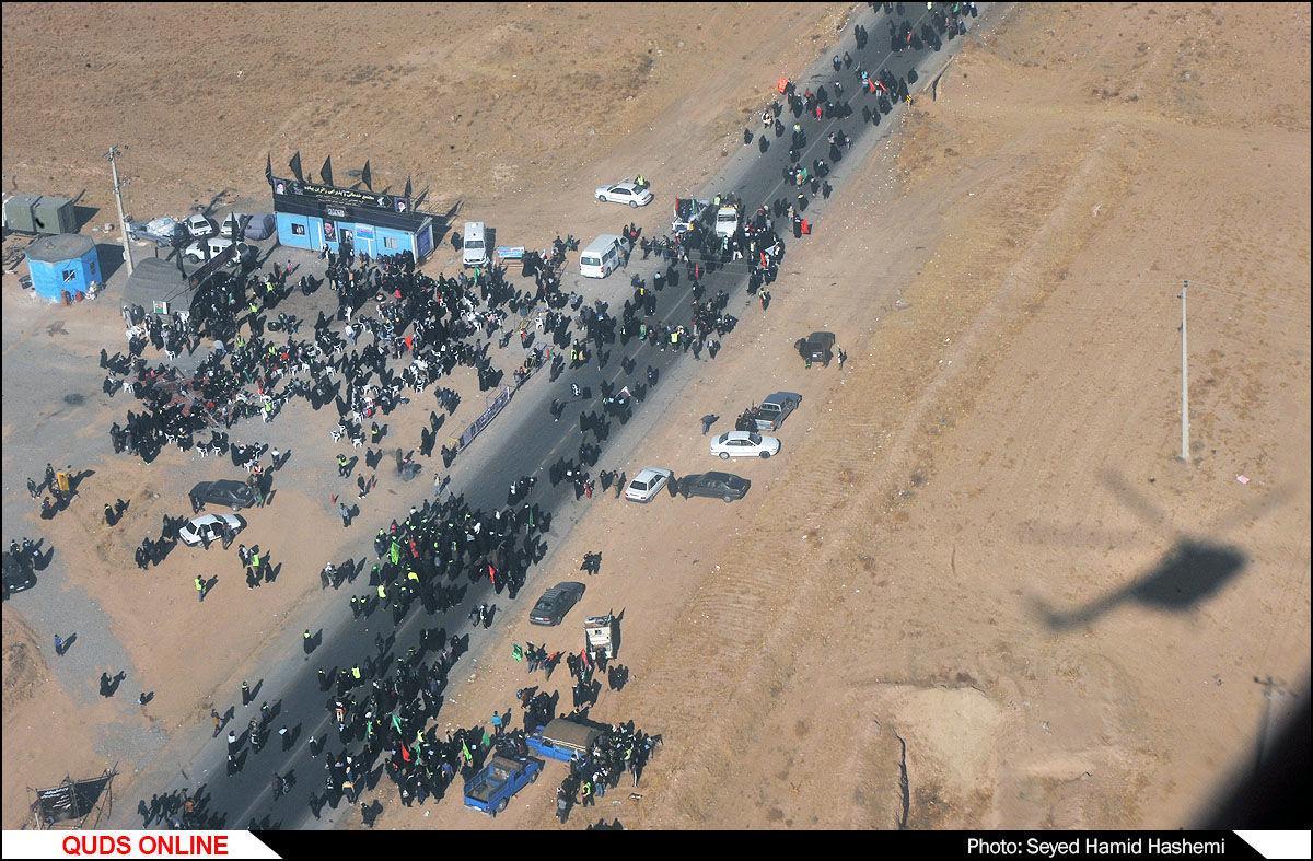 عکس های هوایی از زائرین پیاده حضرت رضا علیه السلام