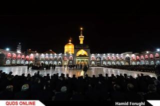 آیین خطبه خوانی شب شهادت امام رضا علیه السلام در حرم مطهر رضوی (2) /گزارش تصویری