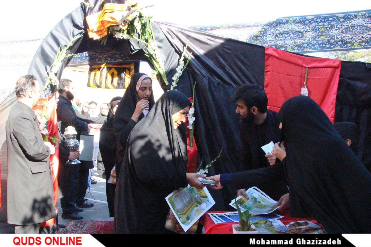 بدرقه کریمانه زائران پیاده امام علی بن موسی الرضا علیه السلام / گزارش تصویری