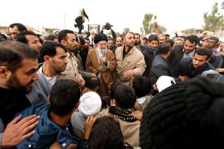 بازدید رهبر معظم انقلاب از مناطق زلزله زده کرمانشاه