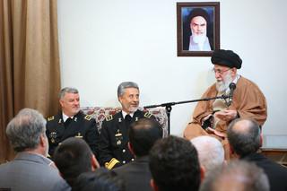 دیدار فرماندهان نیروی دریایی ارتش با رهبر معظم انقلاب