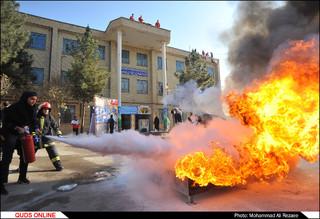 مانور سراسری زلزله و ایمنی در مشهد/گزارش تصویری