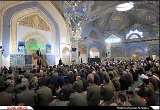 نماز جمعه مشهد در حرم مطهر رضوی/گزارش تصویری