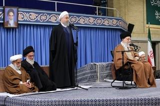 روحانی در دیدار مسئولان با رهبر انقلاب