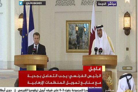 ماکرون و امیر قطر