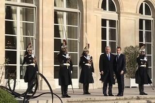 نتانیاهو با ماکرون