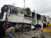 تعداد دانش آموزان فوت شده در حادثه واژگونی اتوبوس ۲ نفر است