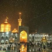 هماکنون/بارش رحمت الهی در  حرم امام رضا علیه السلام