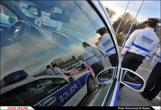 مانور طرح زمستانی پلیس راه /گزارش تصویری