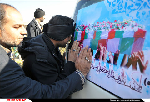 تشییع شهید مدافع حرم«سید علی احمد جعفری»در حرم مطهر رضوی