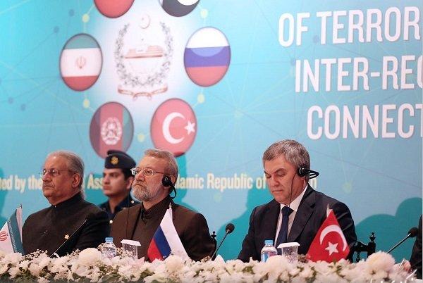 لاریجانی در نشست مبارزه با تروریسم