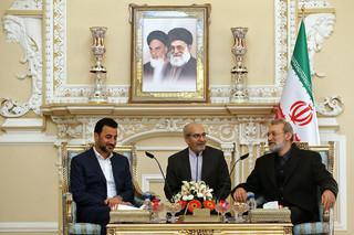 لاریجانی در دیدار با وزیر ورزش و جوانان عراق