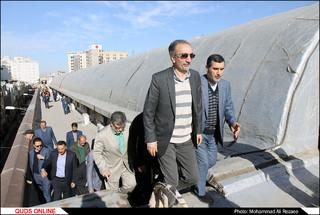 بازدید شهردار مشهد از بازار رضا