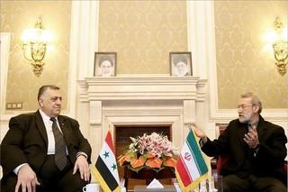 لاریجانی در دیدار با رئیس مجلس سوریه: