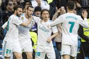 رئال مادرید با ۷ گل عقده گشایی کرد/ گرت بیل و کریستیانو رونالدو ستارگان سانتیاگو برنابئو