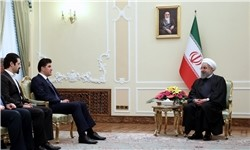 روحانی در دیدار نخست وزیر اقلیم کردستان عراق