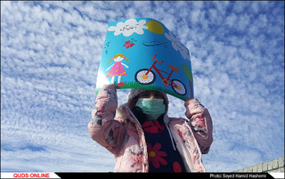 تجمع کودکان مشهدی برای هوای پاک