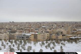 اولین برف زمستانی در شهر قم