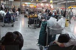 سرگردانی مسافران فرودگاه