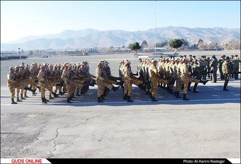 مراسم صبحگاه مشترک یگان های ارتش در مشهد