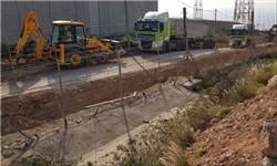 ساخت دیوار حائل در مرز لبنان