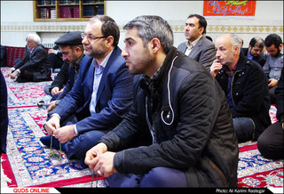 مراسم هفتمین روز درگذشت زنده یاد رضا مقدسی در مسجد رضا مشهد