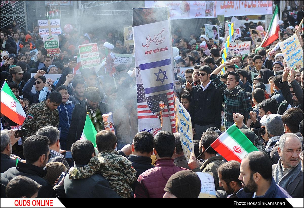 راهپیمایی ۲۲ بهمن در مشهد / گزارش تصویری