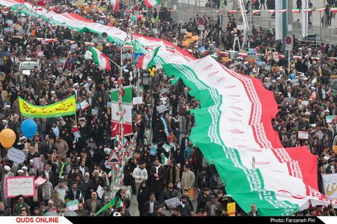 راهپیمایی مردم قم در 22 بهمن ماه