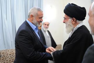 دیدار اسماعیل هنیه با مقام معظم رهبری