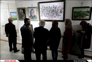 """چهل نقاش خراسان رضوی در نمایشگاه """"چلچراغ"""": گزارش تصویری"""