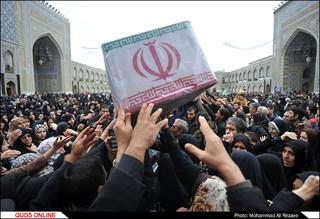 اجتماع عزاداران فاطمی به همراه تشییع شهدای مدافع حرم و گمنام در مشهد
