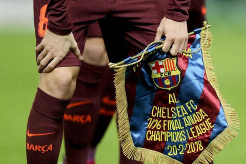 پرچم یادبود تیم بارسلونا