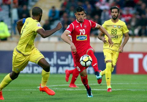 دیدار تیم های فوتبال پرسپولیس و الوصل