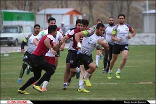تمرین تیم ملی راگبی در مشهد