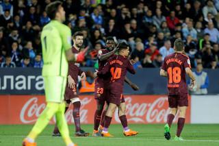 دیدار تیم های فوتبال مالاگا و بارسلونا