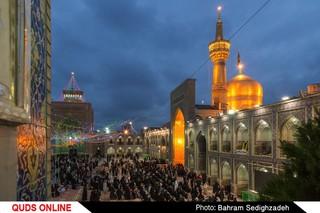 گل کاری و نور افشانی حرم مطهر امام هشتم شیعیان