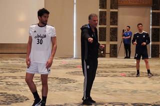 تمرین تیم ملی فوتبال در تونس