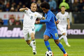 دیدار تیم های ملی فوتبال روسیه و برزیل