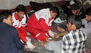 امدادرسانی به زائران کاروان پیاده