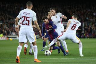 دیدار تیم های فوتبال بارسلونا و رم