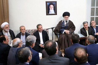 رهبر انقلاب در دیدار جمعی از مسئولان
