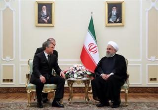 روحانی و رئیس دومای روسیه