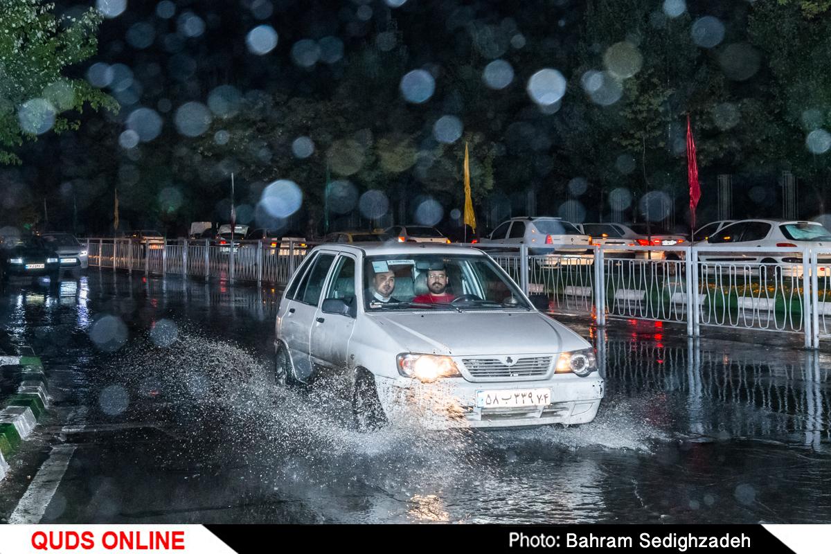 بارش باران در شهر