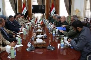 جلسه امیرحاتمی و وزیر دفاع عراق