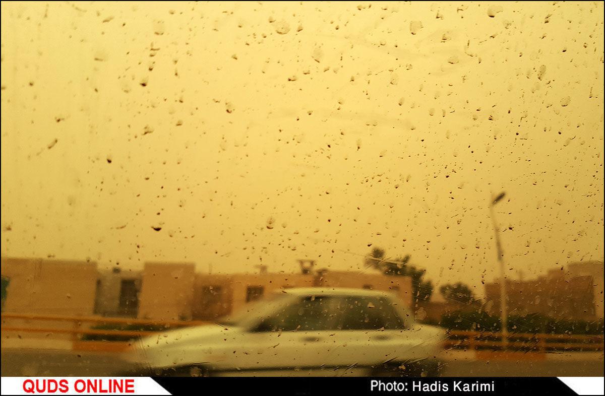 آسمان اهواز سرخ و سیاه شد / گزارش تصویری