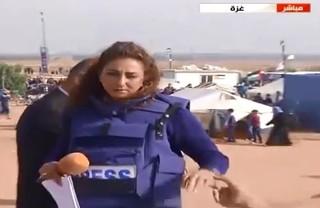 بیهوش شدن خبرنگار المیادین عکس